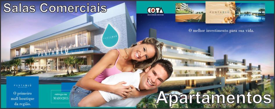 PUNTA BLU O primeiro Mall Residence da Regiao. Apartamentos com 3 suites e salas comerciais