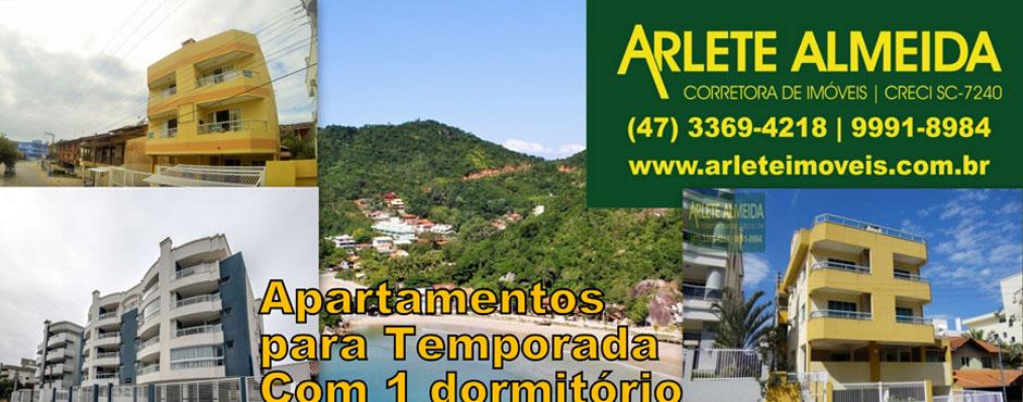 Apartamentos em Porto Belo e Bombinhas Para Locacao de Temporada Com 1 dormitorio Apartamento, Casa, Kitnet